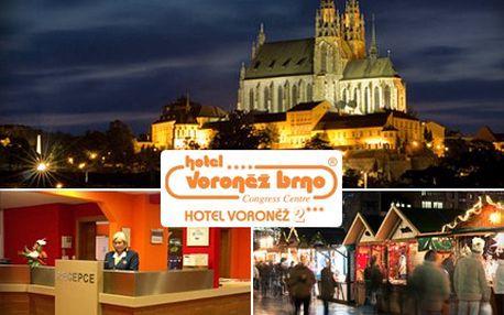 Zažijte atmosféru brněnských vánočních trhů, pohodlně se ubytujte v OREA Hotelu Voroněž II a užijte si nakupování dárků. 62% sleva na ubytování v 1 nebo 2 lůžkovém pokoji se snídaní.