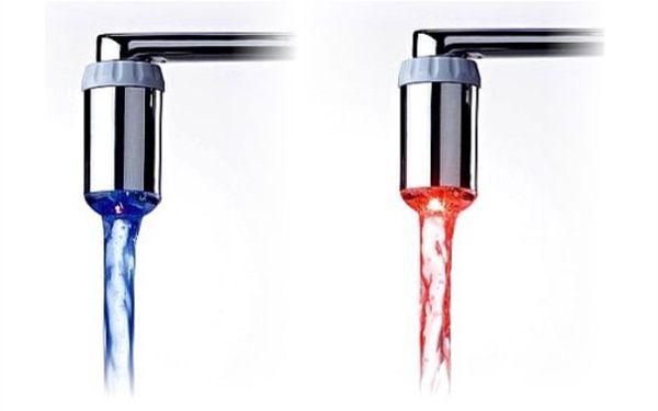ZÁBAVNÁ HYGIENA! 60% sleva na svítící kohoutek na vodovodní baterii !!! Dejte sbohem opaření!