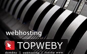 Skandálních 6 Kč za webhostingový tarif IDEAL od společnosti TOPWEBY. Provozujte vlastní www stránky po dobu 6 měsíců se slevou 99% !!! 10GB prostoru, PHP, MySQL, E-mail, statistika návštěvnosti, pravidelné zálohování. Akce jen pro prvních 100 kupujících.