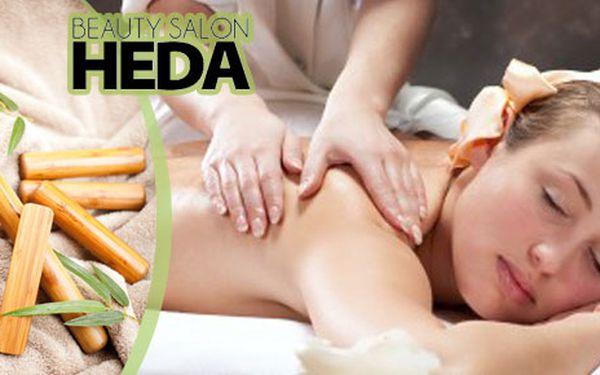 Hodina a půl bambusové masáže celého těla v Beauty Salonu Heda v centru Prahy se super slevou 53 %