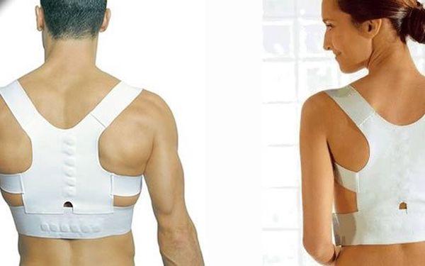 Sleva 72% zádový pás Dr. Levina. Je pohodlný a zpevní záda zejména oblast šíje. Obsahuje 12 magnetů k úlevě od bolesti zad.