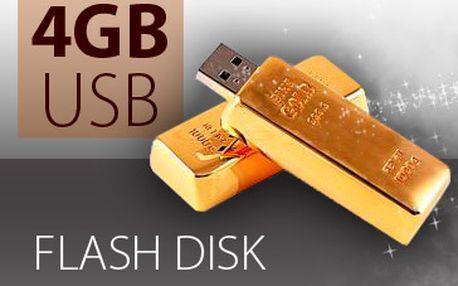 Originální USB flash disk v podobě zlaté cihličky jen za 399Kč! Buďte originální a pořiďte si flashku nejen pro přenos dat, ale i pro parádu! Flashka jako zlatá cihlička s kapacitou 4 GB! Skvělý nápad jako dárek pro všechny! Fantastická sleva 64 %!
