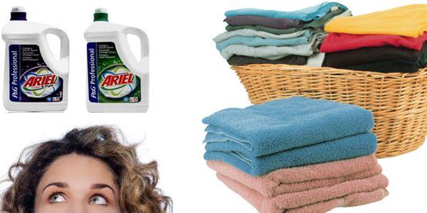199 Kč za 5 litrů pracího gelu Ariel Professional! Kvalitní tekutý prací prostředek se slevou 42 %.