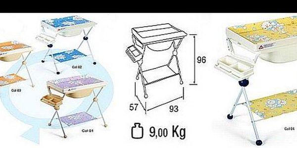 1 673 Kč za přebalovaní stůl JUNIORS s odklopitelnou měkkou přebalovací podložkou, jednou odkládací plochou a mýdlenkou, nyní s 50% slevou.