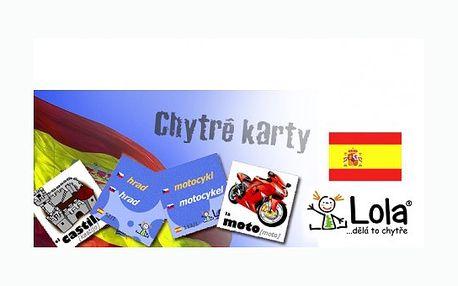 Chytrá Lola Vám přináší výukové kartičky Španělštiny! 240 ks chytrých karet s překlady a výslovností za pouhých 87 Kč! Učení nikdy nebylo tak jednoduché!