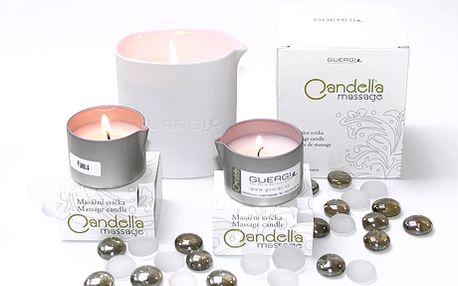 Luxusní sada 3 kusů masážních svíček Guergi®se skvělou slevou 50 %! Chcete darovat originální vánoční dárek svým blízkým? Nebo jen odložit stres z pracovního dne a dopřát si nevšední relax vomamných sladkých vůních Francie? Nechte se hýčkat teplem a hebkostí masážních svíček!