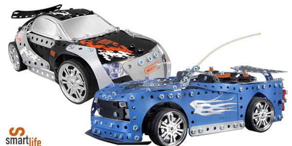 S tímhle si váš kluk vyhraje! Moderní stavebnice tuningového automobilu na dálkové ovládání – dá se znovu rozebrat a sestavit.