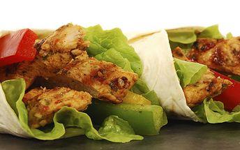 69 Kč za DVĚ vynikající tortilly plněné kuřecím masem, ledovým salátem a dresinkem. Oblíbená kroměřížská Palačinkárna se slevou 50 %!