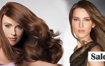 Výživa vlasů na bázi keratinu se slevou 58%! Dvoufázová regenerace poničených a slabých vlasů, umytí speciálním šamponem, zažehlení URS žehličkou a konečný styling za báječných 290 Kč!