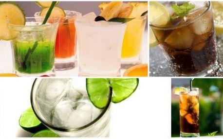 Za pouhých 19 Kč získejte 50% slevu na konzumaci neomezeného množství RUMU S COLOU nebo VODKY S pomerančovým DŽUSEM nebo jakékoliv jiné kombinace těchto nápojů! FOTBÁLEK A ŠIPKY ZDARMA!
