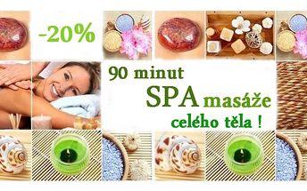 Nenechte si ujít jedinečnou 90-ti minutovou ošetřující masáž celého vašeho těla s peelingem a zábalem !