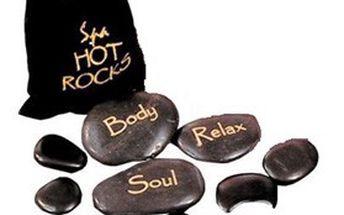 9 ks horkých lávových MASÁŽNÍCH KAMENŮ pro příjemnou domácí relaxaci nebo romantické chvíle!