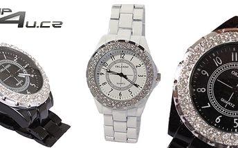 Elegantní bílé nebo černé dámské analogové hodinky Orlando - precizní japonský strojek!