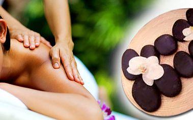 Havajská masáž lávovými kameny. Správně zvolená exotická aromaterapie a příjemná havajská hudba umocňuje pocit klidu a pohody.