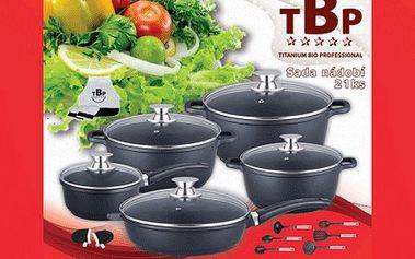 21dílná sada titanového nádobí se 40% slevou – vařte rychle, zdravě, úsporně!