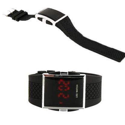 Náramkové silikonové LED hodinky unisex - bílé nebo černé! Bezkonkurenční cena!