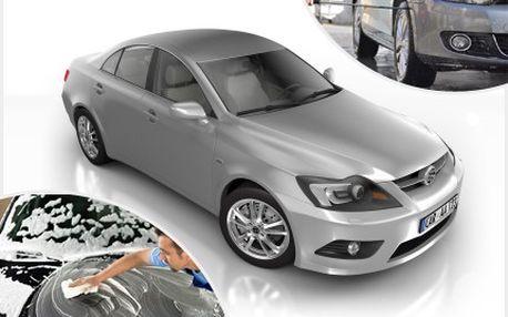 Vaše vozidlo rychlostí blesku, dostaneme do nového lesku! 50% sleva na ruční mytí karoserie, šamponování s voskem, čistění mezidveřních prostor a disků kol.