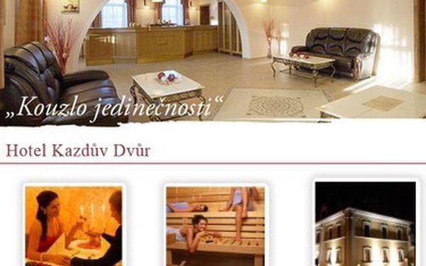Jen 3.590,- Kč za romantický relaxační pobyt pro DVA ve Wellness hotelu Kazdův Dvůr ****. Odpočiňte si od všedního shonu, nechte se hýčkat a ušetřete 7.120,- Kč, nebo obdarujte své blízké opravdu hodnotným dárkem!