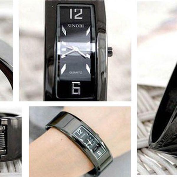 Elegantní hodinky SINOBI s kovovým řemínkem, ideální doplněk k šatům do divadla nebo na koncert se slevou 66%! Poštovné pouze 25 Kč!