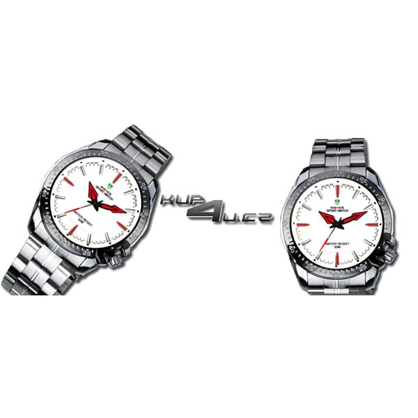 Elegantní pánské analogové hodinky Weide z nerezové oceli vodotěsné do 30 m!