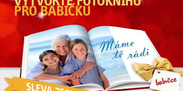 80stránková FOTOKNIHA s pevnou vazbou z vašich fotografií. Nádherný vánoční dárek pro vaši rodinu ve špičkové kvalitě se slevou 75 %