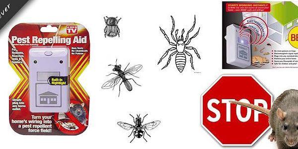 Je Vám nepříjemný všechen hmyz? Využijte odpuzovač hlodavců, švábů, komárů a pavouků, který stačí jen dát do zásuvky. Lidským uchem neslyšitelný chod odpuzovače hmyzu a hlodavců nenaruší Váš spánek a jeho výkon neškodí člověku ani domácím zvířatům.