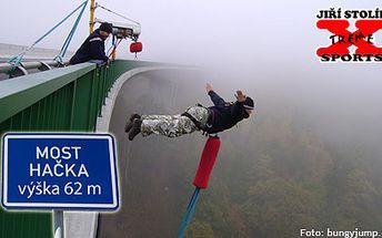 750 Kč za Bungee jumping z 62 metrů vysokého mostu. Zažijte skvělý adrenalinový zážitek!