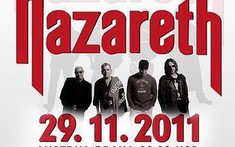 Zažijte pořádný rockový nářez a navštivte koncert legendární kapely NAZARETH. 40% sleva na koncert bluesrockové kapely NAZARETH v pražské Lucerně.