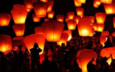 Fantastických 84 Kč za Létající lampiony štěstí! Originální a nádherné zpestření vaší party, svatby či jiné slavnostní události! Sada 5 kusů 4 různých barev (červený, zelený, bílý a modrý lampion)! Oslavujte se slevou 40 %!