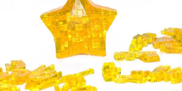 Jen 115,-Kč za 3D crystal puzzle Hvězda ! Výzva pro váš mozek a zároveň nádherný dekorativní předmět !
