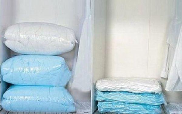 3x vakuový pytel 68x98 cm - znáte z TV! Dokonalý způsob uskladnění prádla! Ušetříte až 75% místa jen za 149Kč