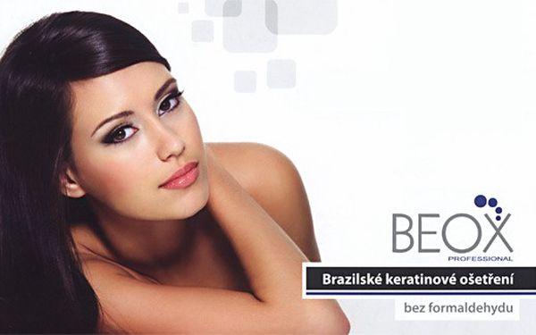 Brazilské ošetření středně dlouhých vlasů keratinem BEOX za 800,- Kč