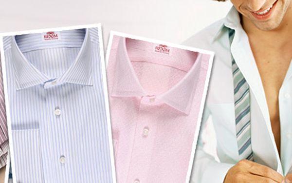 1250 Kč za exklusivní pánskou košili ze salonu Rèxim v ceně až 9960 Kč! Krejčovství v Pařížské ulici s 350letou tradicí a špičkové košile nejvyšší kvality se slevou až 87 %.