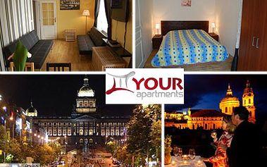 1 noc pre 4 osoby v komfortnom apartmáne YOUR APARTMENTS v centre PRAHY - priamo na Václavskom námestí! Objavujte krásy zlatej Prahy a užite si spoločnú romantiku len teraz so zľavou až 45%! LIMITOVANÁ AKCIA - v predaji len 40 CityKupónov!