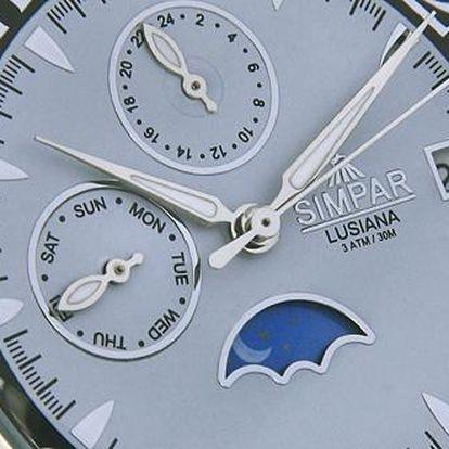 Klasické hodinky pro náročné muže značky SIMPAR s 80% slevou. Dopřejte si luxus jen za 490Kč. Skvěle vybavený model pro Vašeho miláčka v krásném dárkovém balení. Naváhejte, v prodeji poslední kusy!