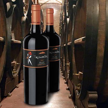 377 Kč za DVĚ argentinská vína Trumpeter Malbec. Oblíbené červené víno, kvalita se slevou 35 %!