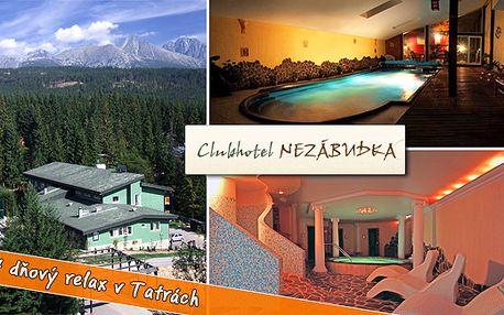 1950 Kč na osobu za příjemný a relaxační pobyt ve Vysokých Tatrách – ubytování, polepenze, welcome drink, wellness a taneční večírek s 55% slevou. Platnost až do června 2012.