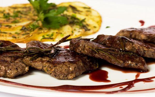 299 Kč za klokaní medailonky na švestkové omáčce PRO DVA s přílohou a DVA limetkové sorbety! Výtečné pochoutky v Kouzelné restauraci se slevou 59 %.