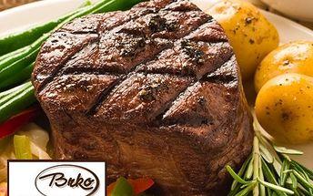 Dva pořádné steaky z pravé svíčkové s omáčkou i přílohou!