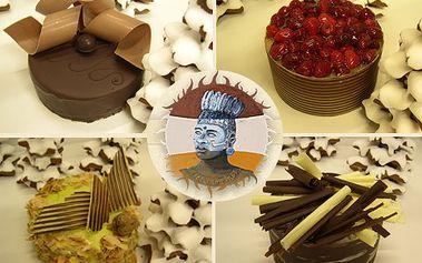 50% sleva na ručně zdobený dort Batul od mistra cukráře!