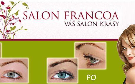 Trvalá na řasy (včetně barvení) v Salónu Francoa: stovky spokojených klientek s touto novou metodou!