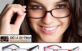 Buďte šik s novými brýlovými obroučkami se slevou 550 Kč!