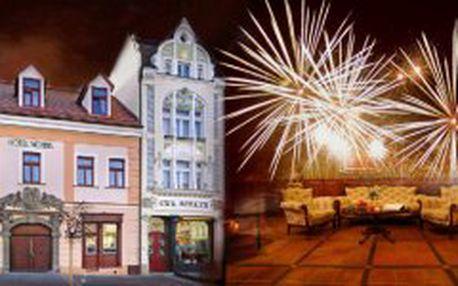 4 denní SILVESTROVSKÝ balíček pro 2 osoby v luxusním wellness hotelu Morris **** v České Lípě s nadstandardní nabídkou služeb a silvestrovským programem