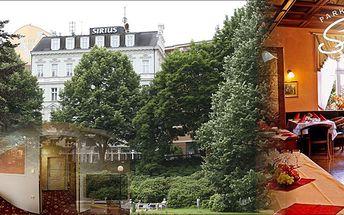Luxusní 3 - denní relaxační pobyt s polopenzí pro dvě osoby v Park Spa Hotelu Sirius****, který se nachází v historickém centru Karlových Varů! Léčebné procedury v ceně!