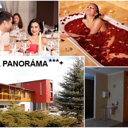 Romantický pobyt pro 2 osoby na 3 dny (2 noci) s panoramatickým výhledem na největší slovenské lázeňské město PIEŠŤANY, romantickou večeří při svíčkách a dárkem!