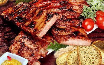 Poseďte si hezky po česku. Dejte si kilo grilovaných žeber s pečivem, horčicí a křenem. 50% sleva na kilo grilovaných žeber v útulné restauraci U Vatikána.