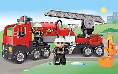 Co potěší Vaše děti na Vánoce nejvíce? Přeci oblíbená LEGO stavebnice. 50% sleva na stavebnici Lego Duplo 4977- HASIČSKÉ AUTO, je vhodná pro všechny malé stavitele od 2 let.