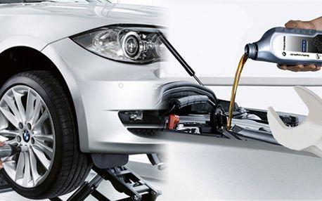 Váš plechový miláček ocení balíček 3v1! Za jedinečnou cenu kompletní prohlídka Vašeho vozu, přezutí pneumatik a výměna oleje! Platnost jeden rok!