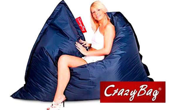 Sedací pytel CrazyBag do interiéru i do bazénu – voděodolný sedací vak s popruhy pro udržení tvaru v 10 barvách, rozměry 188×140 cm