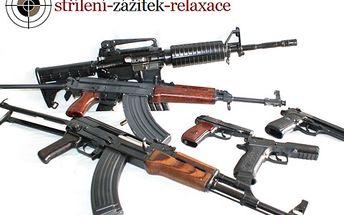 Odreagujte se a zastřílejte si z 6 druhů zbraní s 64% slevou!